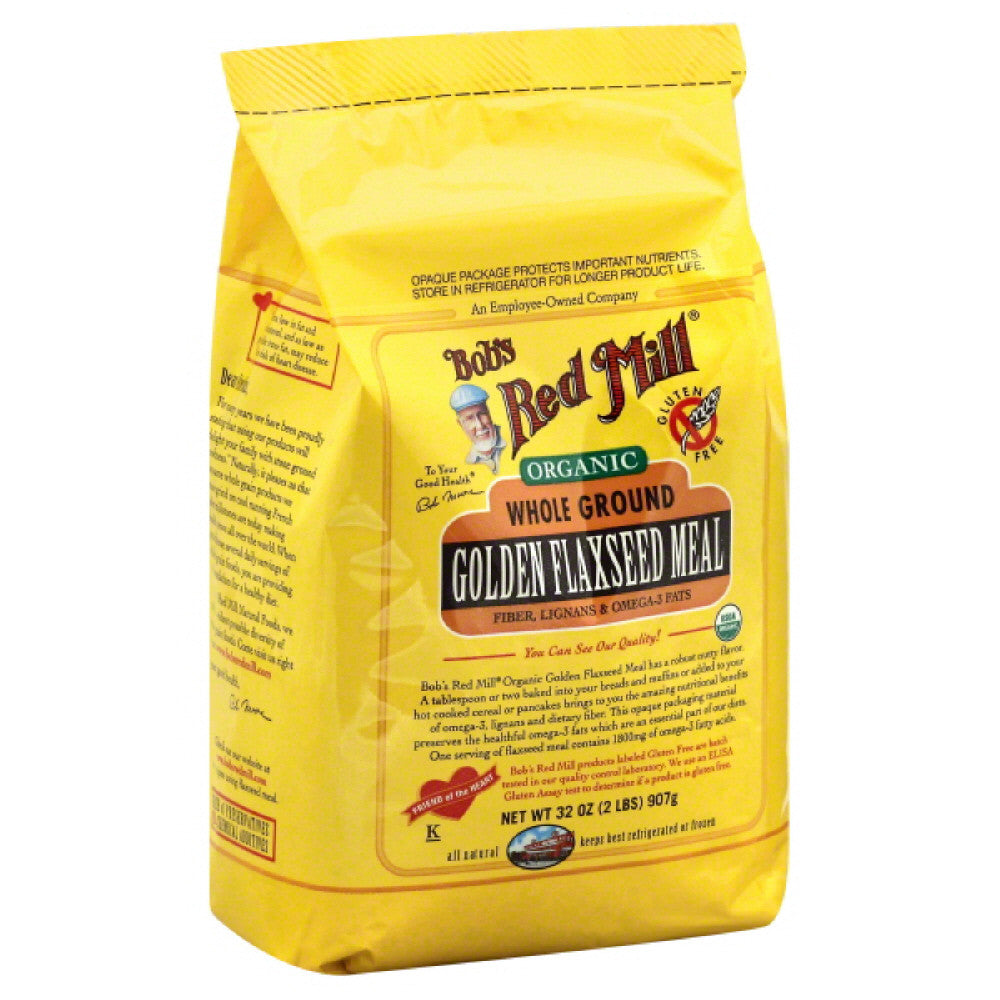 Bobs Red Mill Golden Flaxseed Meal Whole Ground, 32 Oz (Pack of 4)