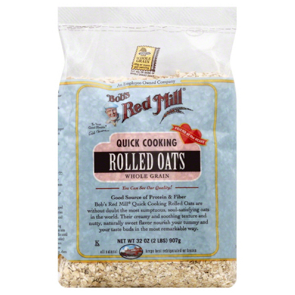 Bobs Red Mill Quick Cooking Rolled Oats, 32 Oz (Pack of 4)