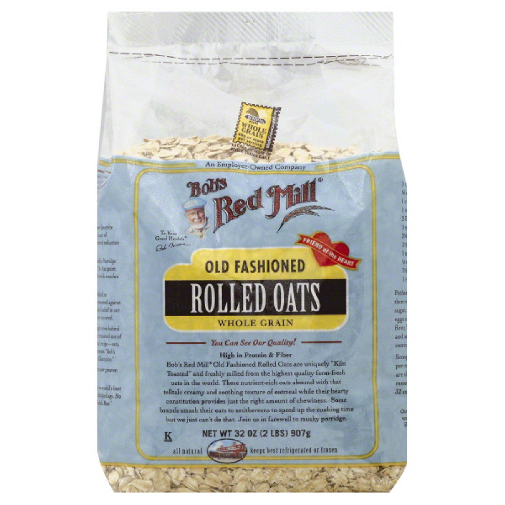 Bobs Red Mill Old Fashioned Rolled Oats, 32 Oz (Pack of 4)
