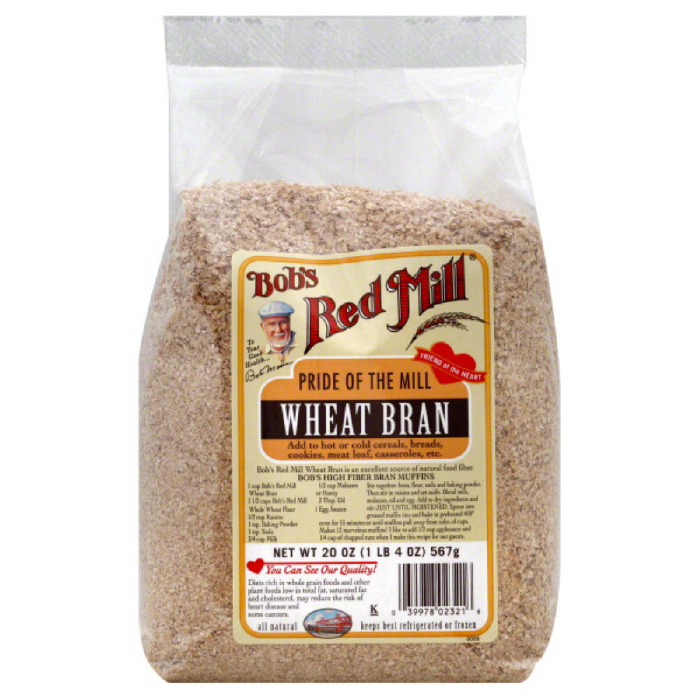 Bobs Red Mill Wheat Bran, 20 Oz (Pack of 4)