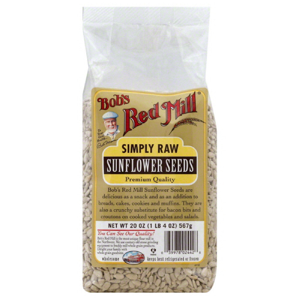 Bobs Red Mill Simply Raw Sunflower Seeds, 20 Oz (Pack of 4)