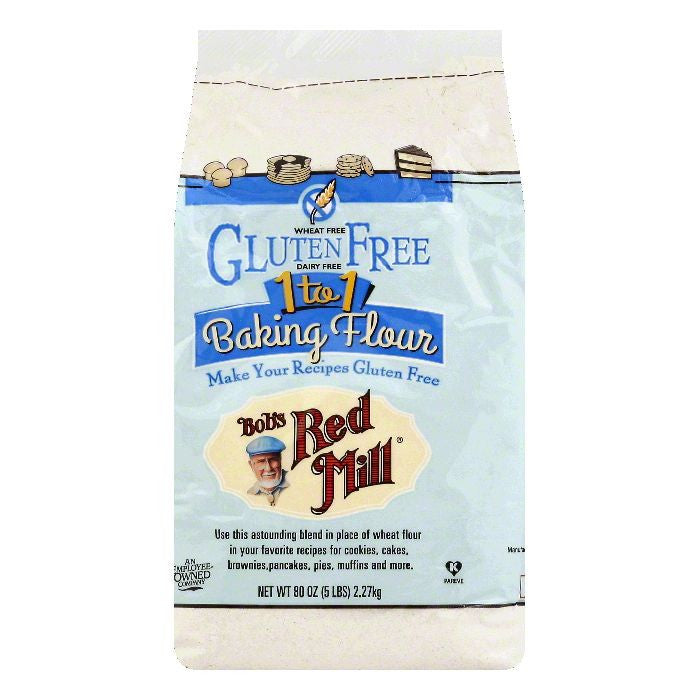 Bobs Red Mill 1 to 1 Baking Flour, 80 OZ (Pack of 4)