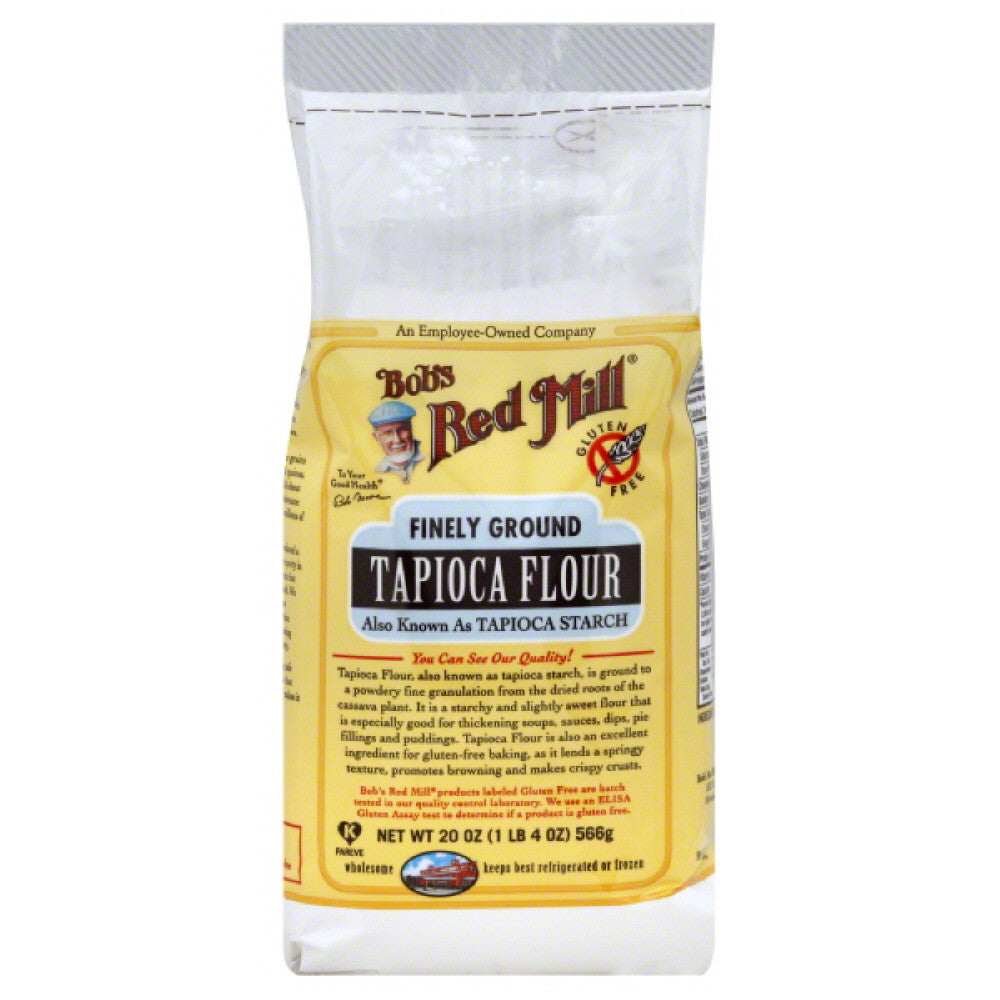 Bobs Red Mill Finely Ground Tapioca Flour, 20 Oz (Pack of 4)