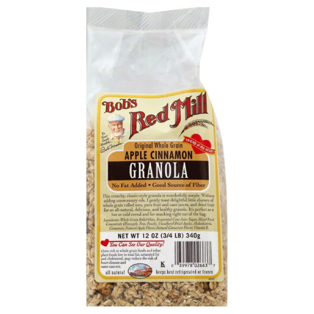 Bobs Red Mill Apple Cinnamon Granola, 12 Oz (Pack of 4)