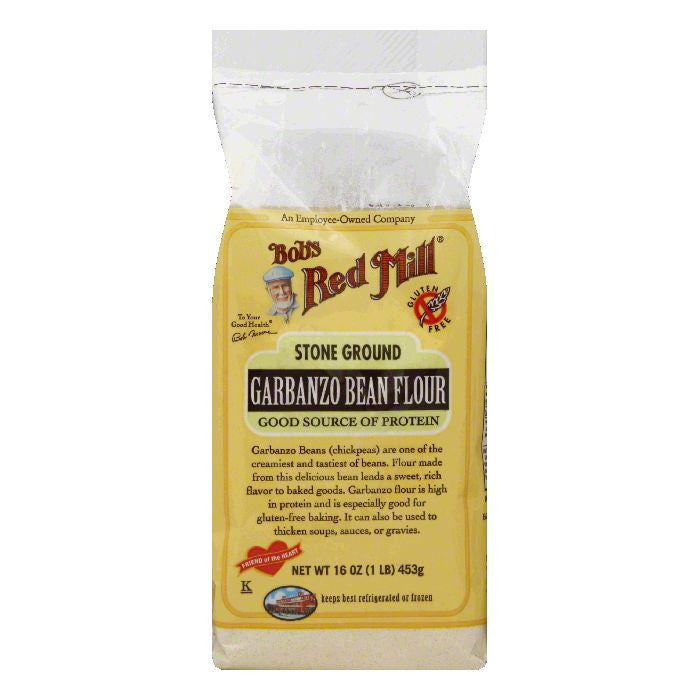 Bobs Red Mill Stone Ground Garbanzo Bean Flour, 16 Oz (Pack of 4)