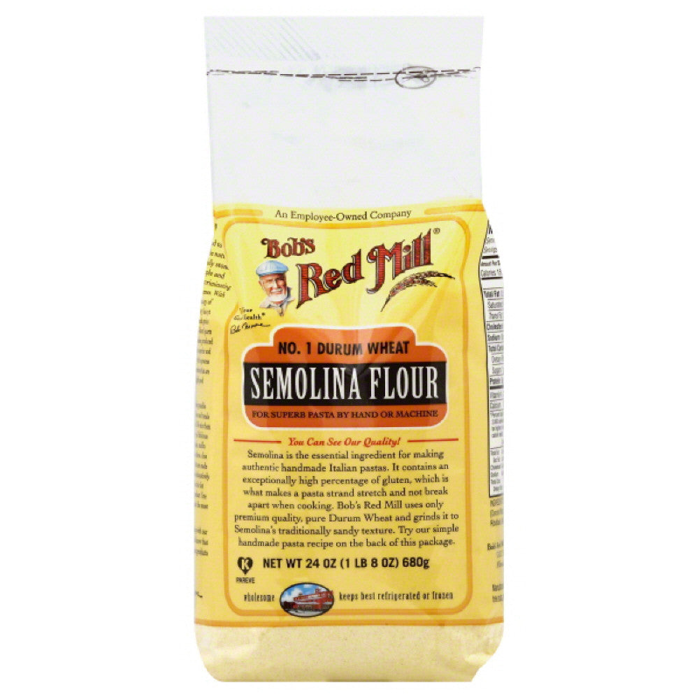 Bobs Red Mill Semolina Flour, 24 Oz (Pack of 4)