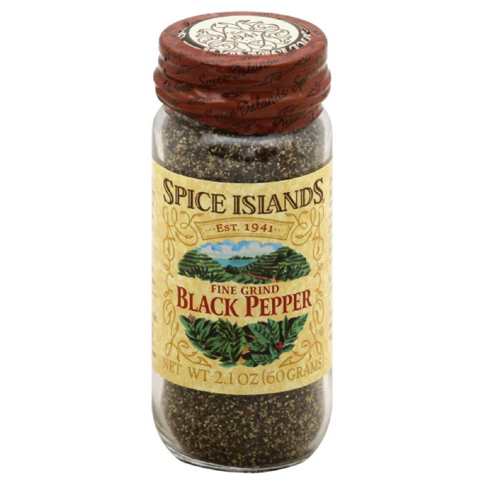 Spice Islands Fine Grind Black Pepper, 2.1 Oz (Pack of 3)