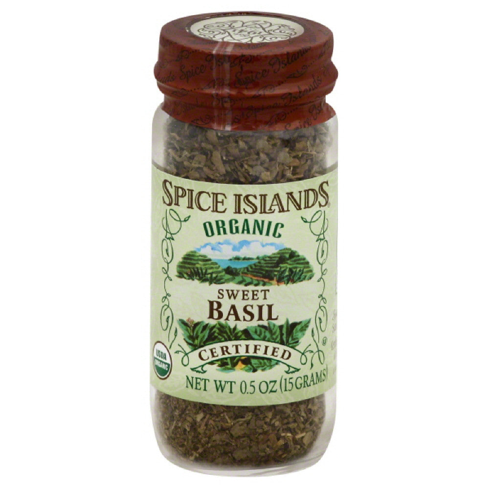 Spice Islands Organic Sweet Basil, 0.5 Oz (Pack of 3)