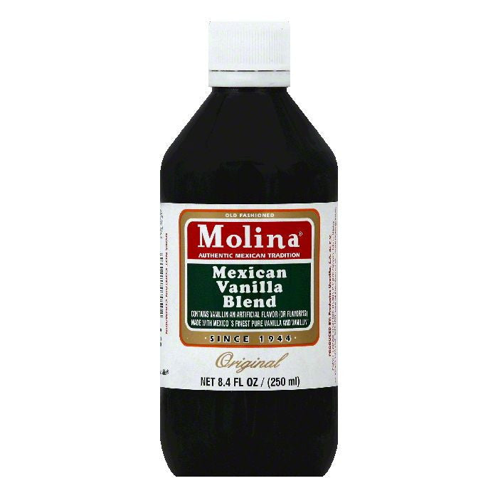 Molina Original Mexican Vanilla Blend, 8.4 OZ (Pack of 12)