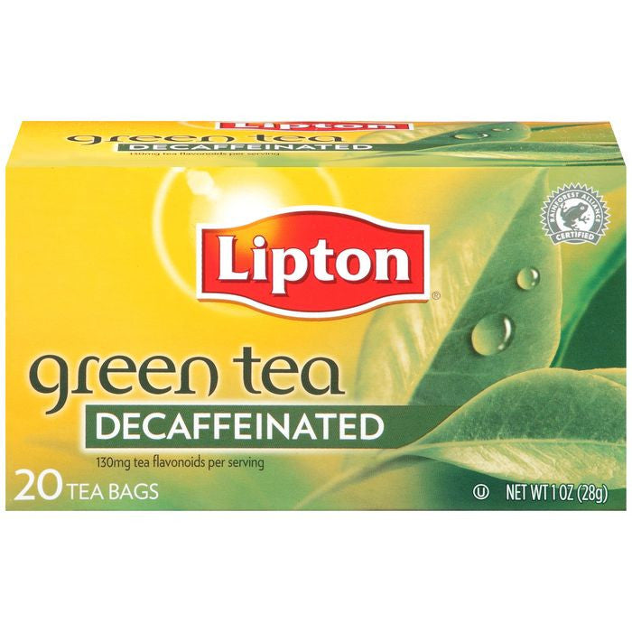 Lipton Decaffeinated Green Tea Bags 20 ct  (Pack of 6)