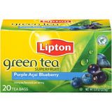 Lipton Superfruit Purple Acai Blueberry Green Tea Bags 20 ct  (Pack of 6)