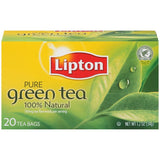 Lipton Pure Green Tea Bags 20 ct  (Pack of 6)
