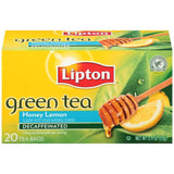 Lipton Honey Lemon Decaffeinated Green Tea Bags 20 ct  (Pack of 6)