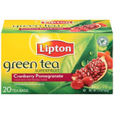 Lipton Superfruit Cranberry Pomegranate Green Tea Bags 20 ct  (Pack of 6)