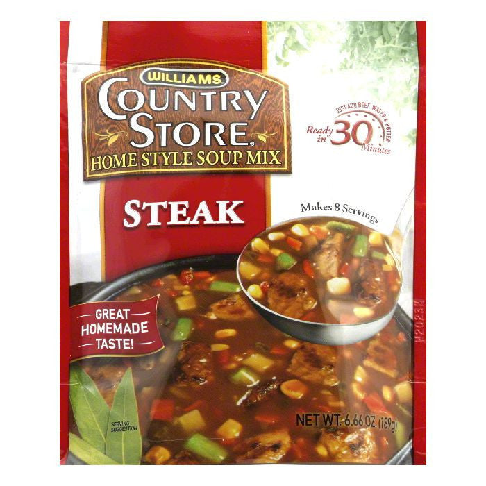Williams Country Store Steak Soup, 6.66 OZ (Pack of 6)