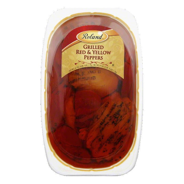 Roland Grilled Red & Yellow Peppers, 67 Oz (Pack of 2)