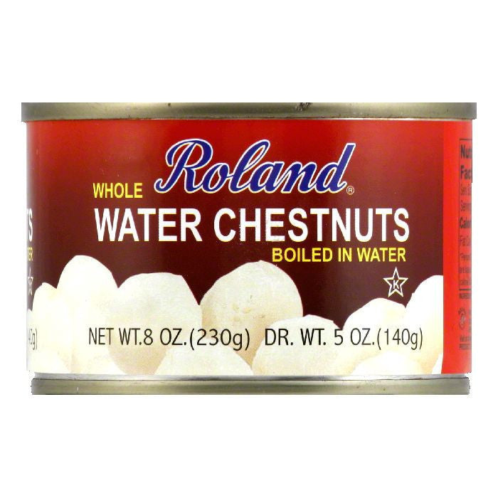 Roland Whole Waterchestnut, 8 OZ (Pack of 24)