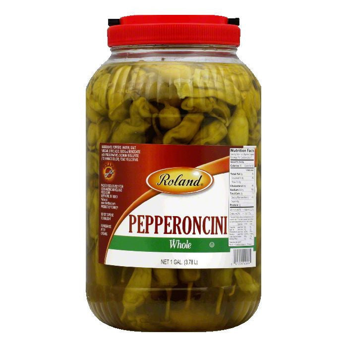 Roland Whole Pepperoncini, 128 Oz (Pack of 4)