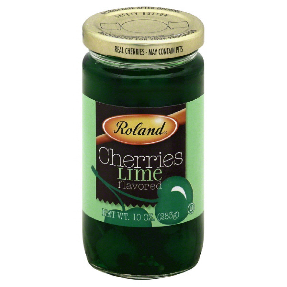 Roland Lime Flavored Cherries, 10 Oz (Pack of 6)