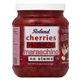 Roland No Stems Maraschino Cherries, 0.5 GA (Pack of 6)