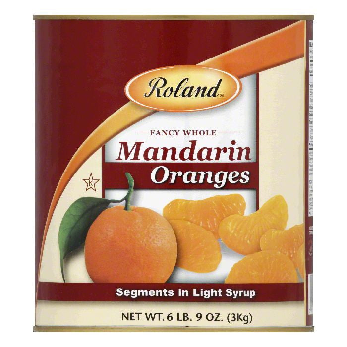 Roland Fancy Whole Mandarin Oranges, 3 KG (Pack of 6)