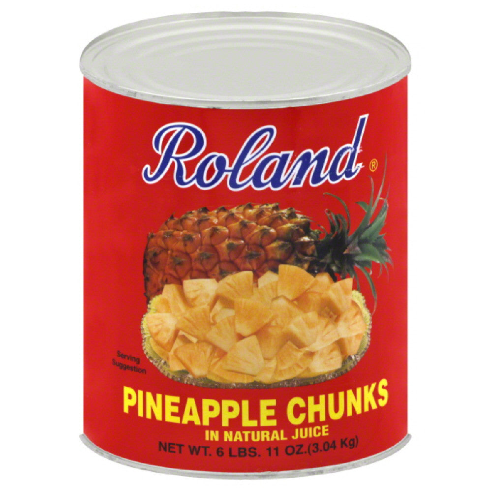 Roland Chunks Pineapple, 107 Oz (Pack of 6)