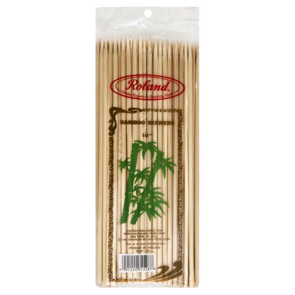 Roland Bamboo Skewers, 100 Pc (Pack of 10)