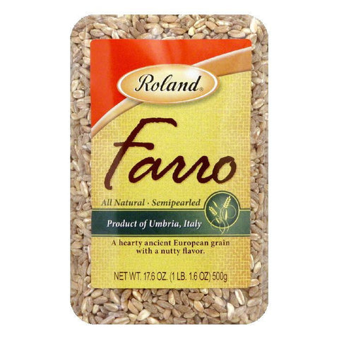 Roland Semipearled Farro, 17.6 OZ (Pack of 12)
