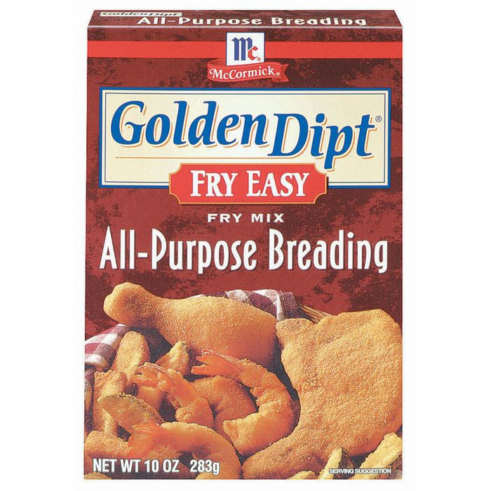 Golden Dipt All-Purpose Breading Fry Mix Fry Easy 10 Oz  (Pack of 12)