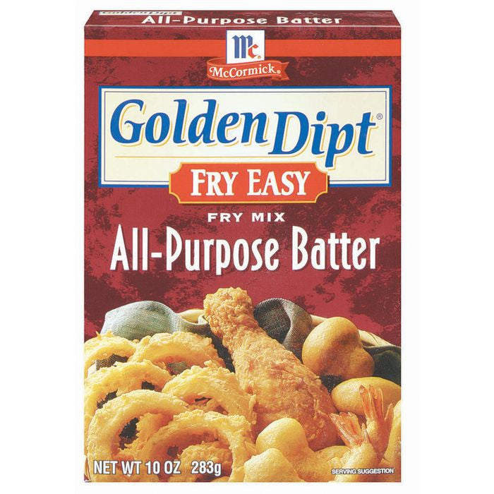 Golden Dipt All-Purpose Batter Fry Mix Fry Easy 10 Oz  (Pack of 12)