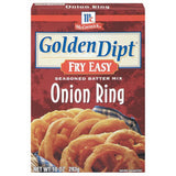 Golden Dipt Onion Ring Seasoned Batter Mix Fry Easy 10 Oz  (Pack of 12)