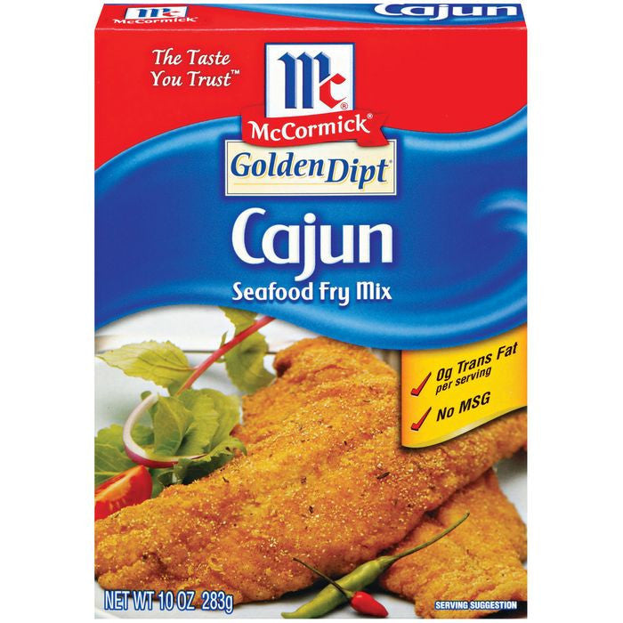 Golden Dipt Cajun Seafood Fry Mix 10 Oz  (Pack of 12)