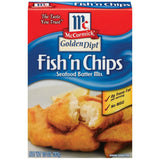 Golden Dipt Fish'n Chips Seafood Batter Mix 10 Oz  (Pack of 12)
