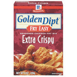Golden Dipt Extra Crispy Seasoned Chicken Fry Mix Fry Easy 8 Oz  (Pack of 12)