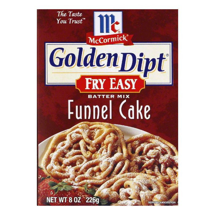 Golden Dipt Funnel Cake Batter Mix, 8 OZ (Pack of 6)