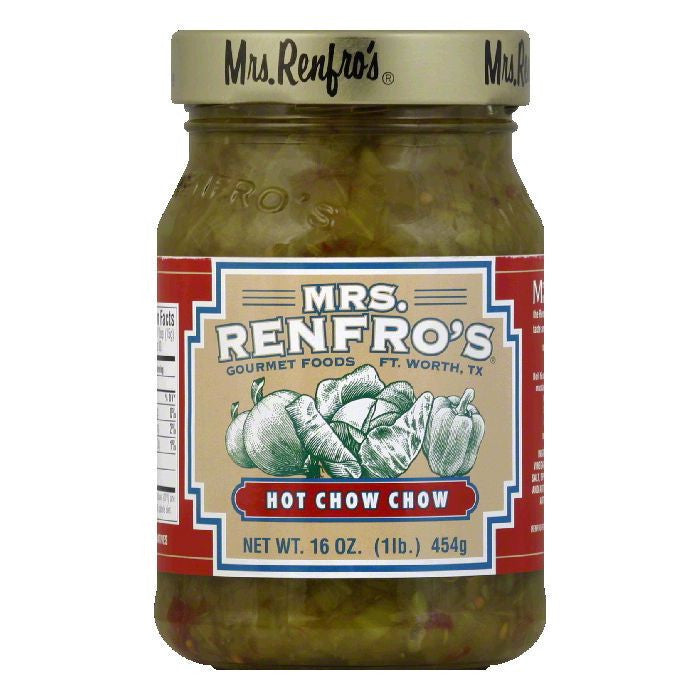 Mrs. Renfro's Chow Chow Hot, 16 OZ (Pack of 6)