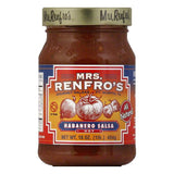 Mrs. Renfro's Salsa Habanero Hot, 16 OZ (Pack of 6)