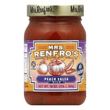 Mrs. Renfro's Salsa Peach Gourmet, 16 OZ (Pack of 6)