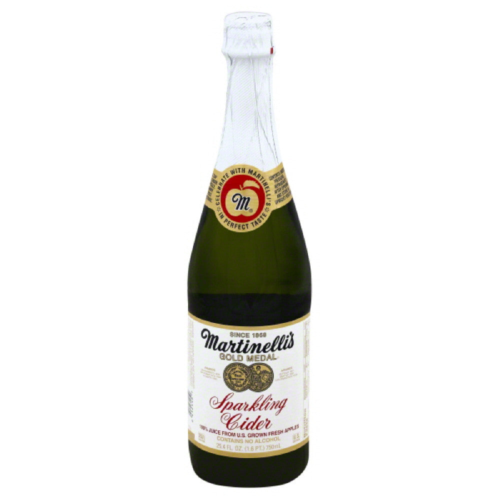 Martinellis Sparkling Cider 100% Juice, 25.4 Fo (Pack of 12)