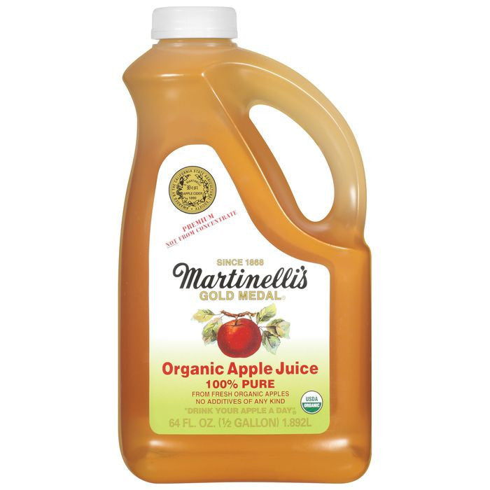 Martinelli's Gold Medal 100% Pure Organic Apple Juice 64 Oz Jug (Pack of 6)