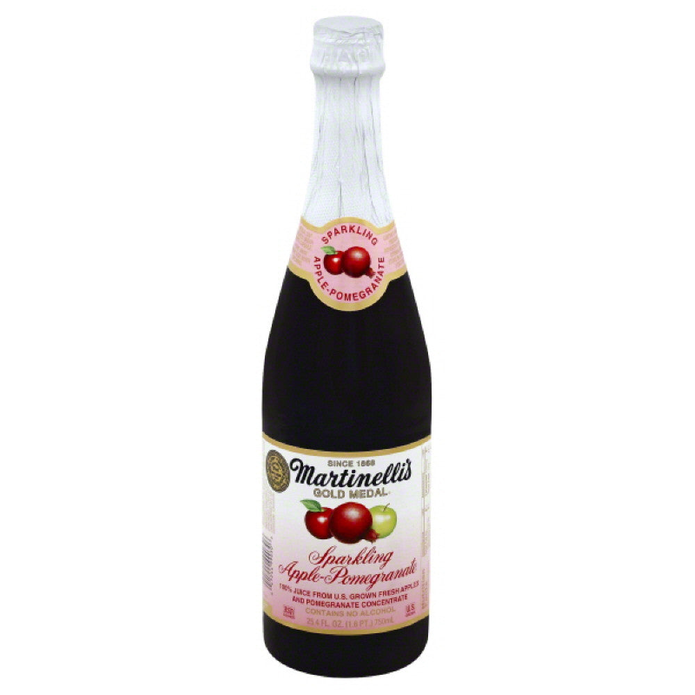 Martinellis Sparkling Apple-Pomegranate 100% Juice, 25.4 Fo (Pack of 12)