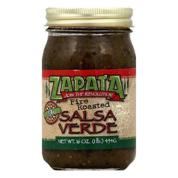 Zapata Mild Fire Roasted Salsa Verde, 16 OZ (Pack of 6)