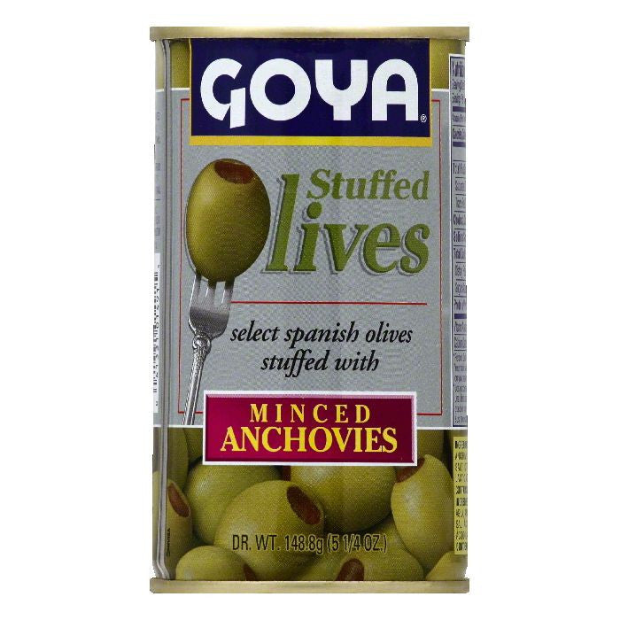 Goya Minced Anchovies Stuffed Olives, 1 ea (Pack of 12)