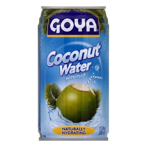 Goya Coconut Water with Pulp, 11.8 OZ (Pack of 24)