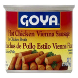 Goya Hot Chicken Vienna Sausage, 4.75 OZ (Pack of 48)