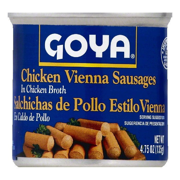 Goya Chicken Vienna Sausages, 4.75 OZ (Pack of 48)