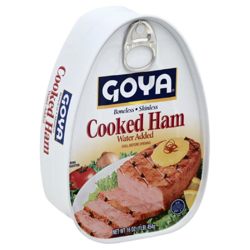 Goya Boneless/Skinless Cooked Ham, 16 Oz (Pack of 12)