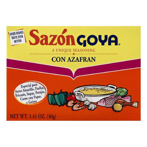 Goya Con Azafran Sazon Goya Seasoning, 1.41 OZ (Pack of 36)