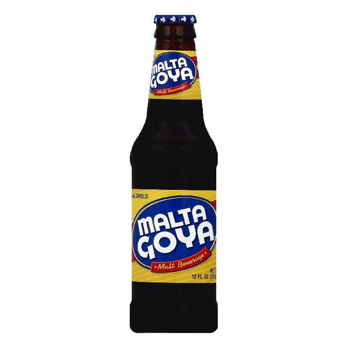 Malta Goya Non-Alcoholic Malt Beverage, 12 OZ (Pack of 24)