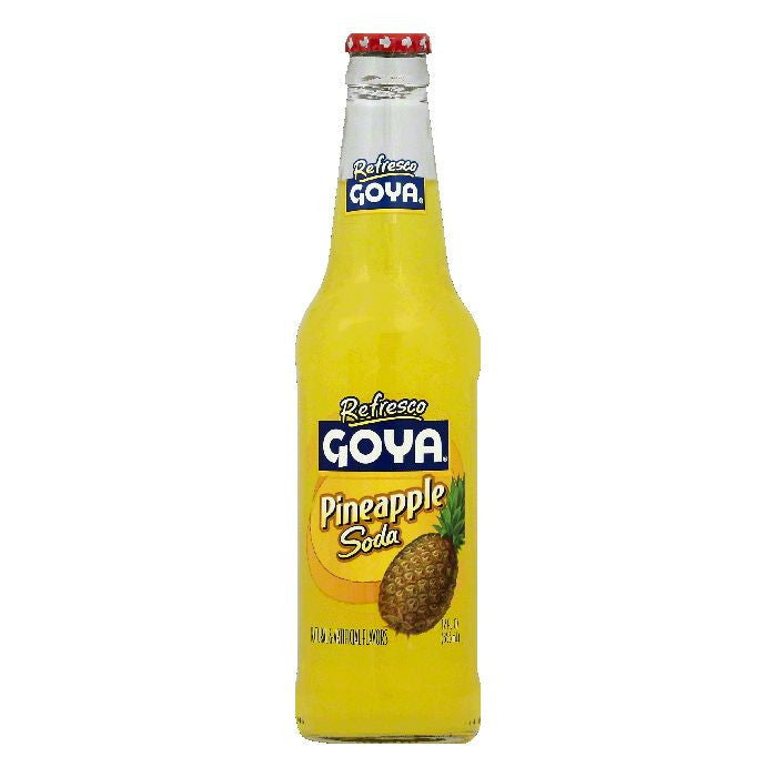 Goya Pineapple Soda, 12 OZ (Pack of 24)